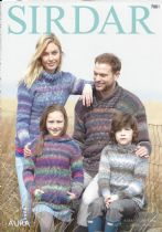 Sirdar Aura Chunky - 7881 Sweaters Knitting Pattern